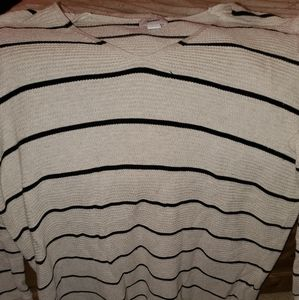 Tan and Black Striped Sweater